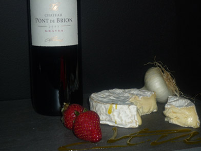 camembert + vin - le fromage